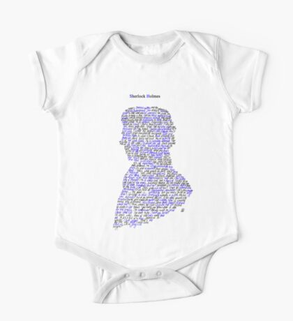 Sherlock in his own words One Piece - Short Sleeve