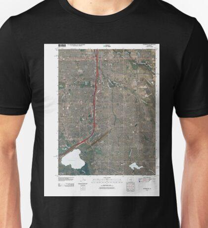 USGS TOPO Map Colorado CO Fitzsimons 20100831 TM Unisex T-Shirt
