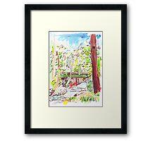 Hobart Rivulet Framed Print