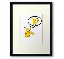 """Pikachu"" -Pikachu Framed Print"