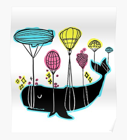 Balloona Whale Poster