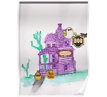 Purple haunted house! Poster