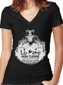 Lo Pan's High Cuisine Women's Fitted V-Neck T-Shirt