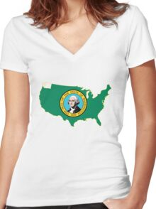 Washington Women's Fitted V-Neck T-Shirt