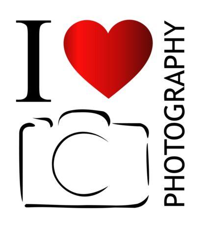 I love photography Sticker