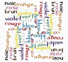 French colour words IV One Piece - Short Sleeve