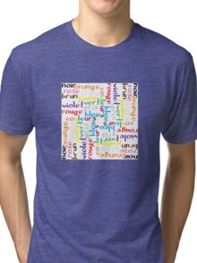 French colour words IV Tri-blend T-Shirt