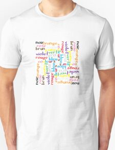 French colour words IV Unisex T-Shirt