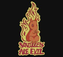Squirrels are Evil by EMG Graphic Art