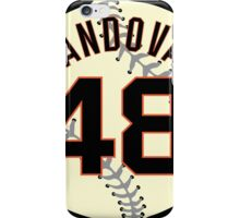 Pablo (Panda) Sandoval Baseball Design iPhone Case/Skin