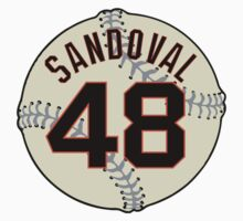 Pablo (Panda) Sandoval Baseball Design Kids Clothes