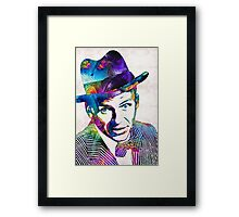 Frank Sinatra Art - Old Blue Eyes - By Sharon Cummings Framed Print