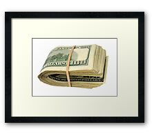 Fat Stak Framed Print