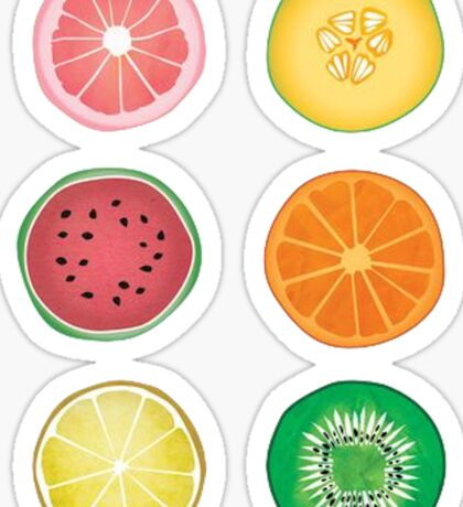 Sliced Fruit Sticker
