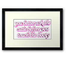 Ask The Cutie Framed Print