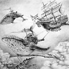 Wind Whales (Phone & Tablet Cases) by Wil Zender