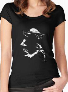 Star Wars Yoda Minimal  Women's Fitted Scoop T-Shirt