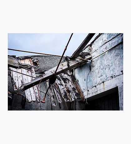 Mill Factory - Collapsed Roof  Photographic Print