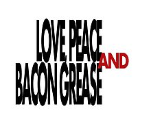 Love, Peace, & Bacon Grease by Amanda Vontobel Photography