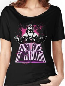 """Bret Hitman Hart """"Excellence of Execution! Women's Relaxed Fit T-Shirt"""