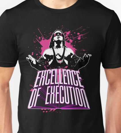 "Bret Hitman Hart ""Excellence of Execution! Unisex T-Shirt"