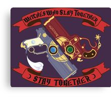 Slay Together, Stay Together - Bayonetta & Jeanne Canvas Print