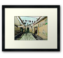 Abandoned Building with Checkered Tile Framed Print