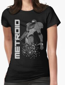 Turning to Zero (Greyscale) Womens Fitted T-Shirt