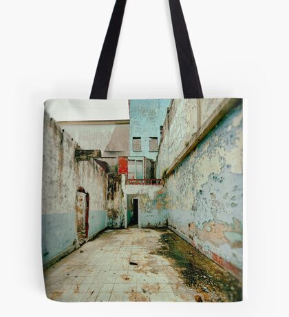 Abandoned Building with Red Bricks Tote Bag