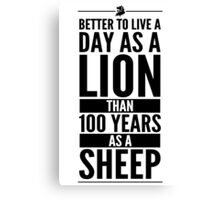 Live The Day Like A Lion - White Canvas Print