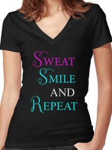 Gym funny T-shirt Women's Fitted V-Neck T-Shirt