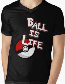 Poke-Ball is Life Mens V-Neck T-Shirt