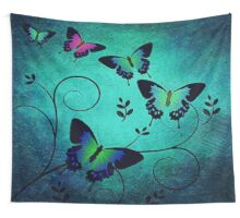 Colorful Butterflies Wall Tapestry