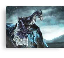 Frost Dragon Canvas Print