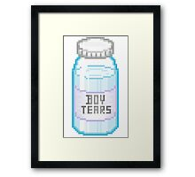 Boy Tears Framed Print