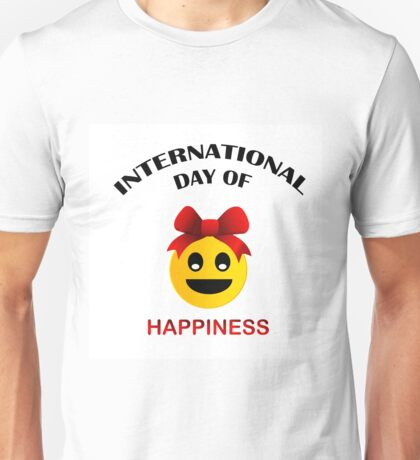 Day of Happiness- Commemorative Day March 20  Unisex T-Shirt