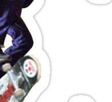 The Joker Skating Over The Dark Knight Sticker