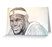 Lebron James, Miami Heat drawing Greeting Card