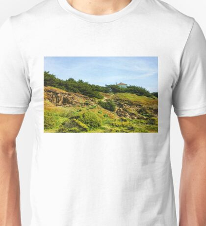 San Francisco Colorful Spring - Hilltop House With a View Unisex T-Shirt