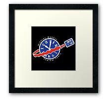 TARDIS Space! Framed Print