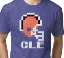 Tecmo Bowl, Tecmo Super Bowl, Tecmo Bowl Shirt, Tecmo Bowl T-shirt, Tecmo Bowl Helmet, CLE Helmet, CLE Tri-blend T-Shirt