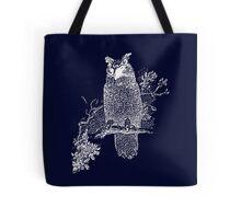 Great Horned Owl Illustration Tote Bag