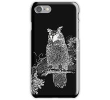 Great Horned Owl Illustration iPhone Case/Skin