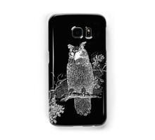 Great Horned Owl Illustration Samsung Galaxy Case/Skin