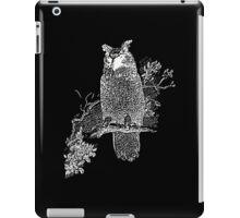 Great Horned Owl Illustration iPad Case/Skin