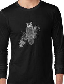 Great Horned Owl Illustration Long Sleeve T-Shirt