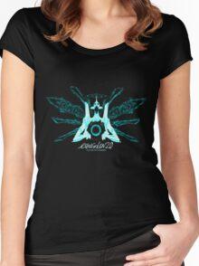 Evangelion 2.0 - EVA UNIT 01 Angel Logo Women's Fitted Scoop T-Shirt