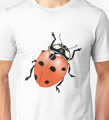 A ladybug viewed from the top Unisex T-Shirt