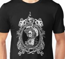 Victorian Portrait with Skull Unisex T-Shirt