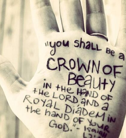 You shall be a crown of beauty Sticker